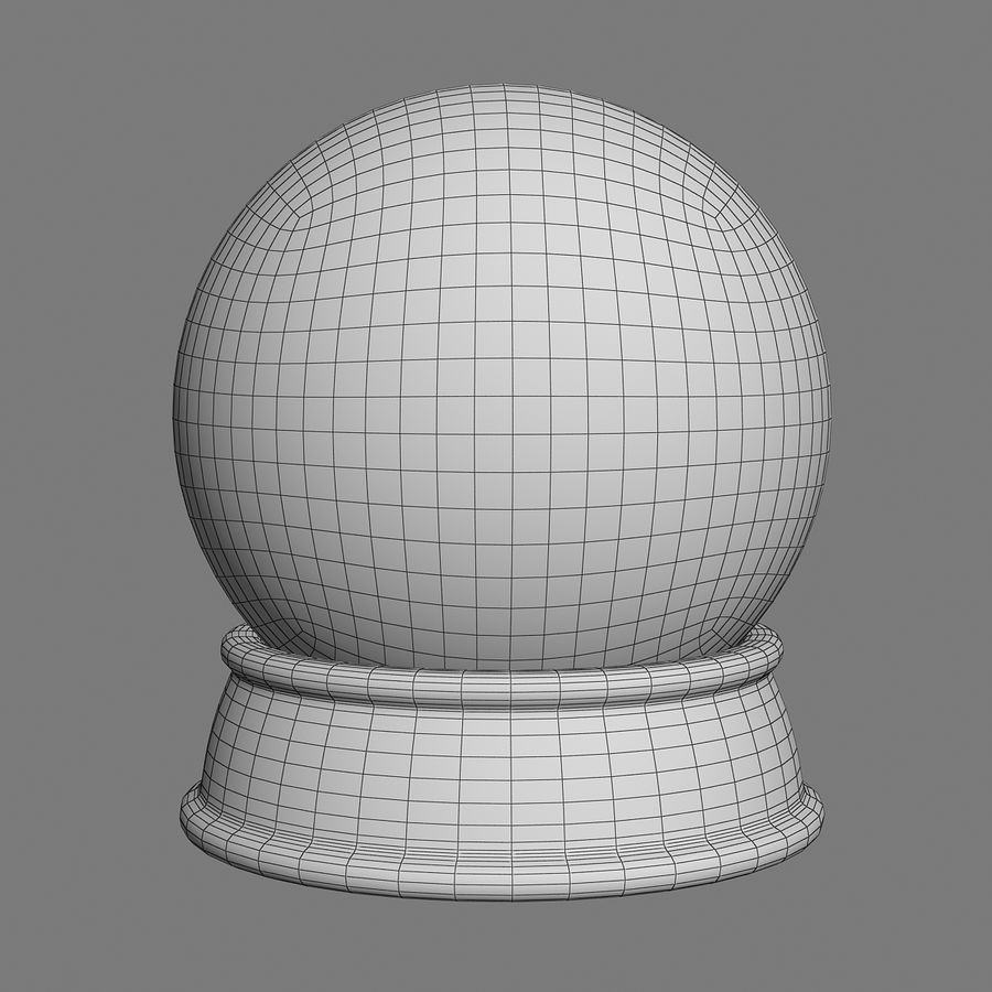 snow globe royalty-free 3d model - Preview no. 5