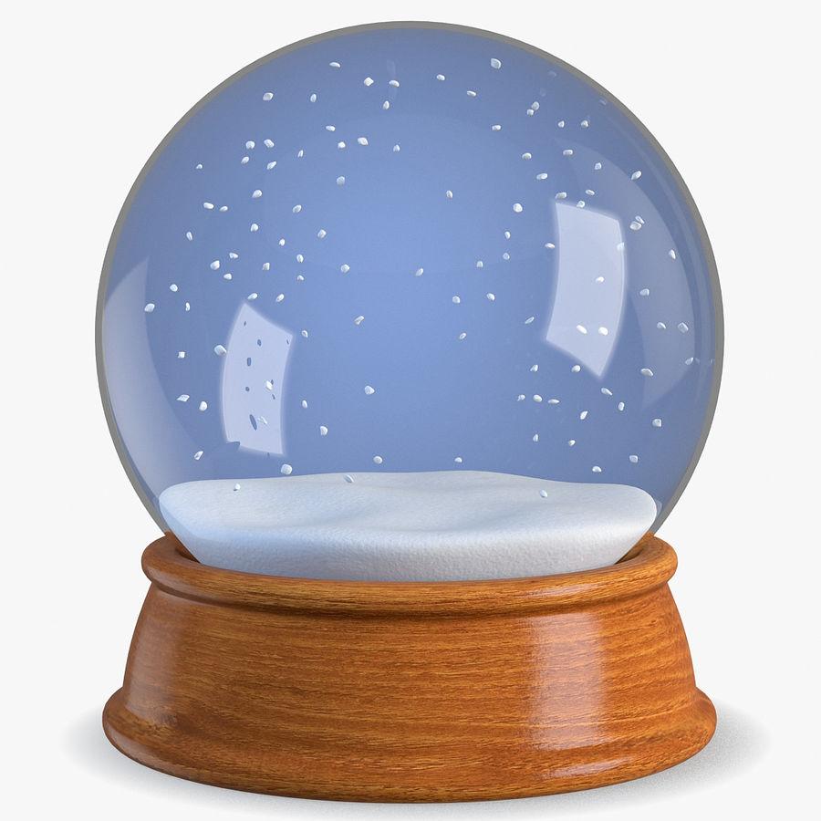snow globe royalty-free 3d model - Preview no. 1
