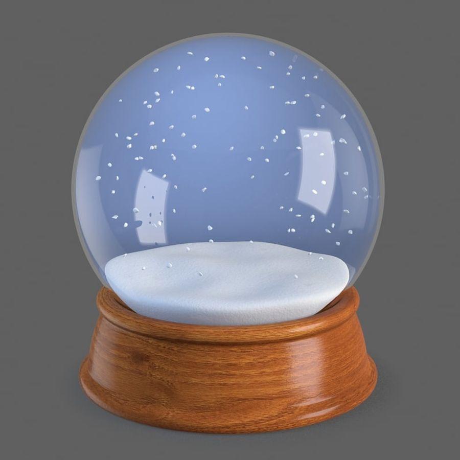 snow globe royalty-free 3d model - Preview no. 2