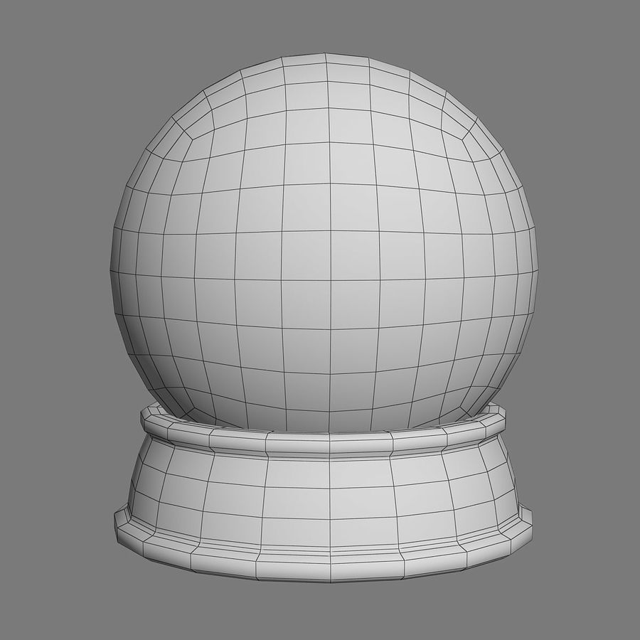 snow globe royalty-free 3d model - Preview no. 4