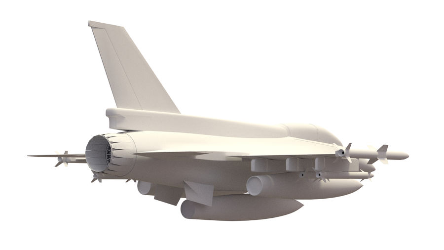 F 16 ( 4 variants) royalty-free 3d model - Preview no. 10