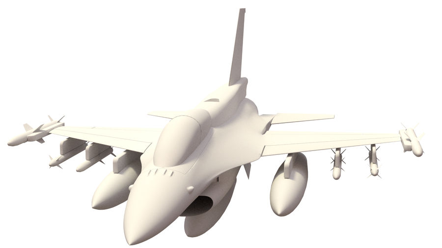 F 16 ( 4 variants) royalty-free 3d model - Preview no. 6