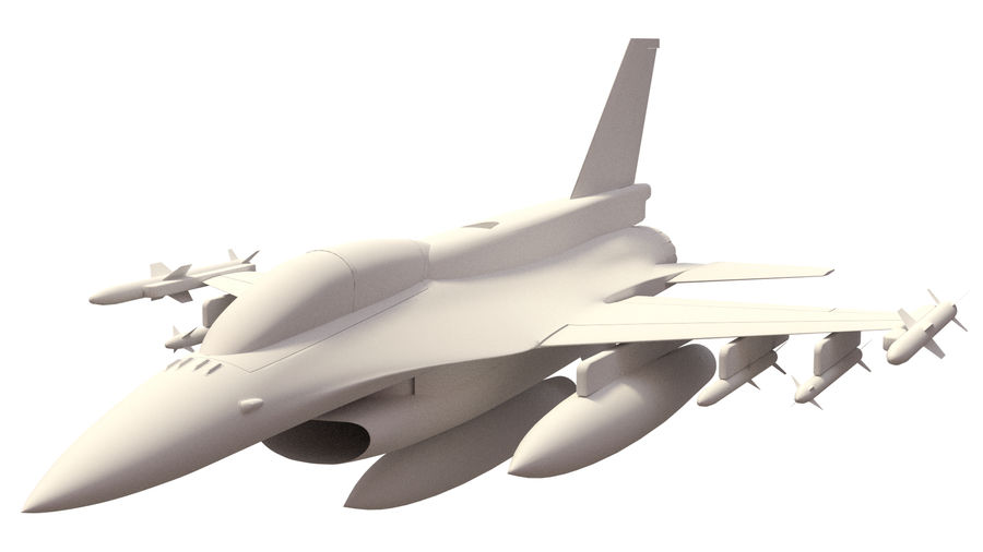 F 16 ( 4 variants) royalty-free 3d model - Preview no. 2