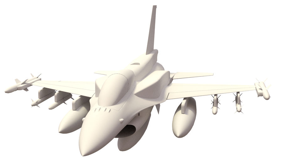F 16 ( 4 variants) royalty-free 3d model - Preview no. 5