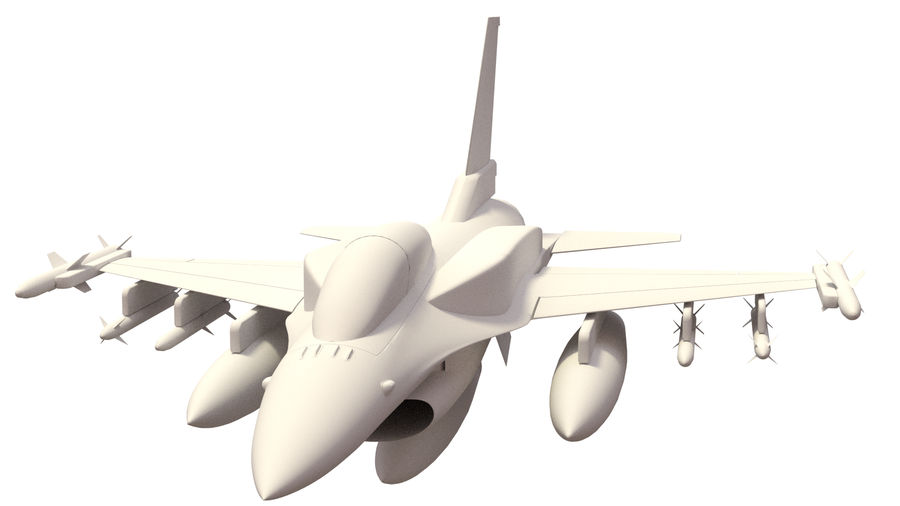 F 16 ( 4 variants) royalty-free 3d model - Preview no. 8