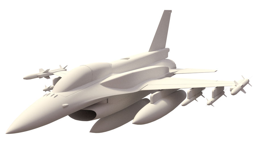 F 16 ( 4 variants) royalty-free 3d model - Preview no. 1