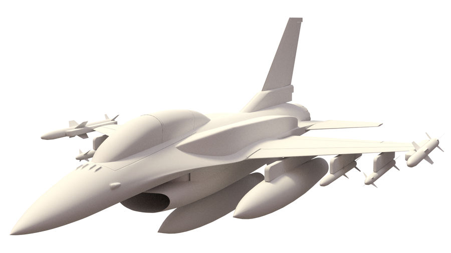 F 16 ( 4 variants) royalty-free 3d model - Preview no. 4