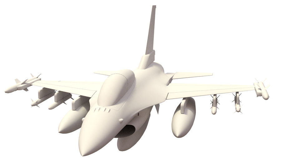 F 16 ( 4 variants) royalty-free 3d model - Preview no. 7