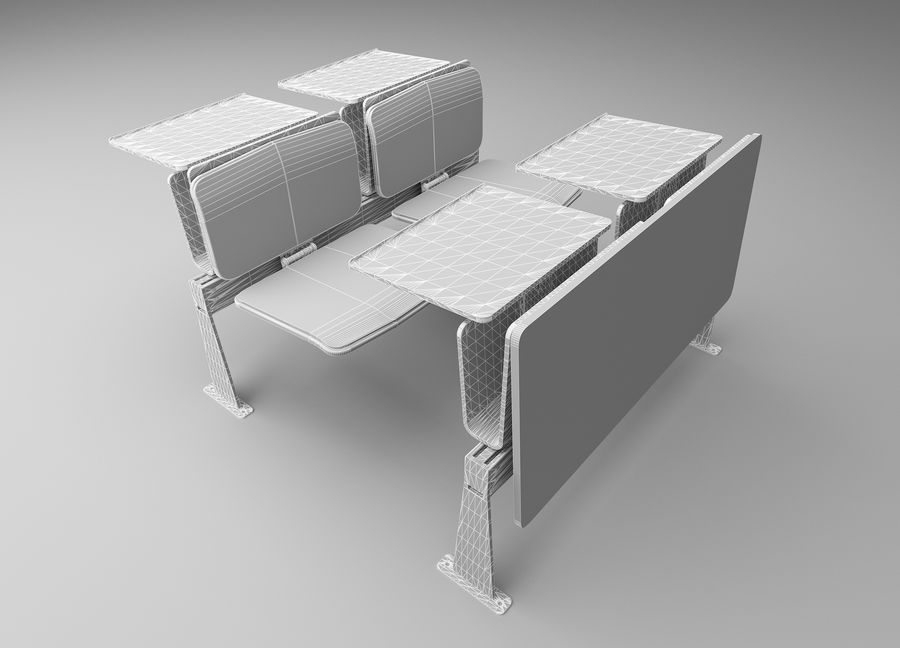 Lecture Desk royalty-free 3d model - Preview no. 6