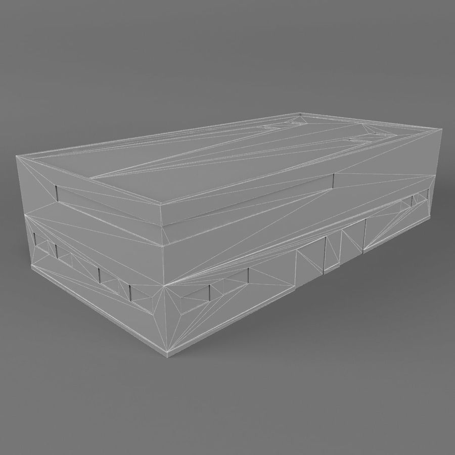 Warehouse Building royalty-free 3d model - Preview no. 10