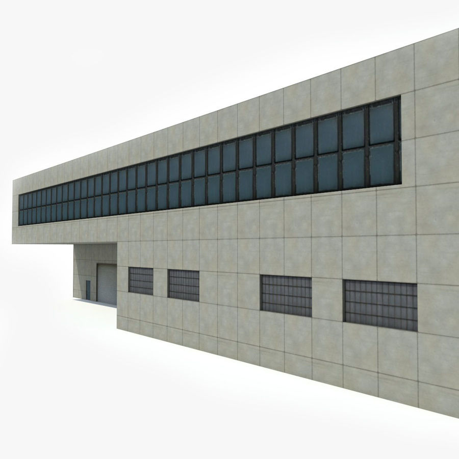 Warehouse Building royalty-free 3d model - Preview no. 6