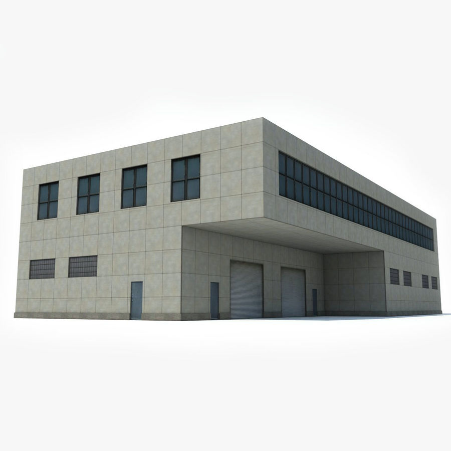 Warehouse Building royalty-free 3d model - Preview no. 2