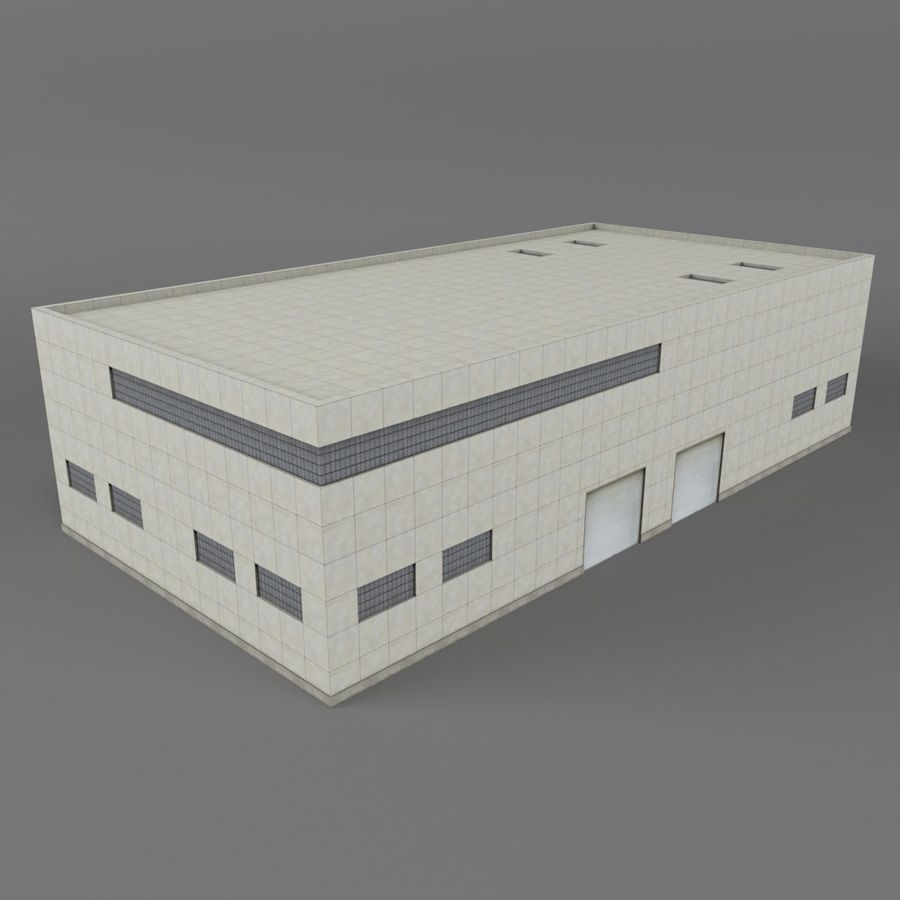 Warehouse Building royalty-free 3d model - Preview no. 9
