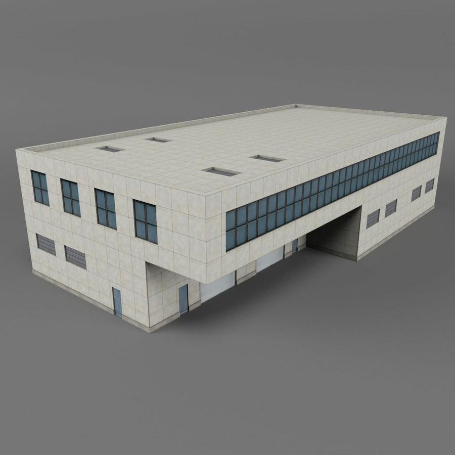 Warehouse Building royalty-free 3d model - Preview no. 7