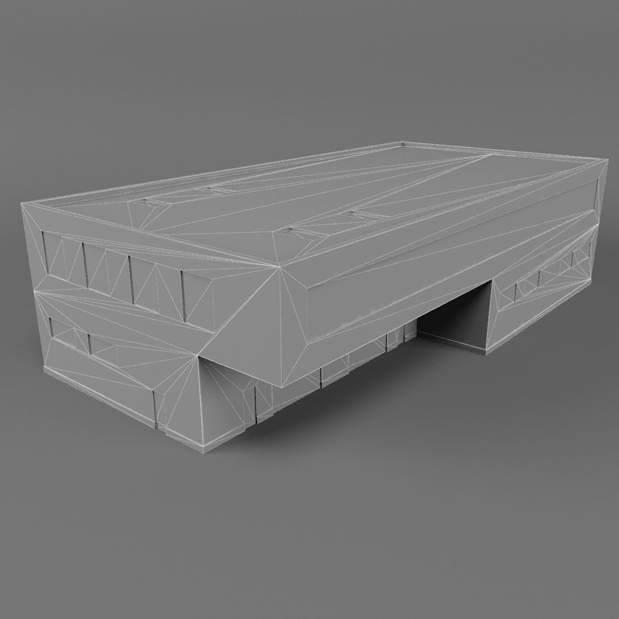 Warehouse Building royalty-free 3d model - Preview no. 8