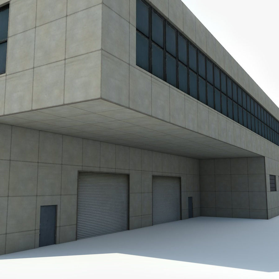 Warehouse Building royalty-free 3d model - Preview no. 3