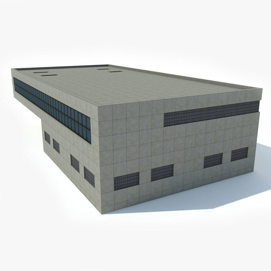 Warehouse Building royalty-free 3d model - Preview no. 5
