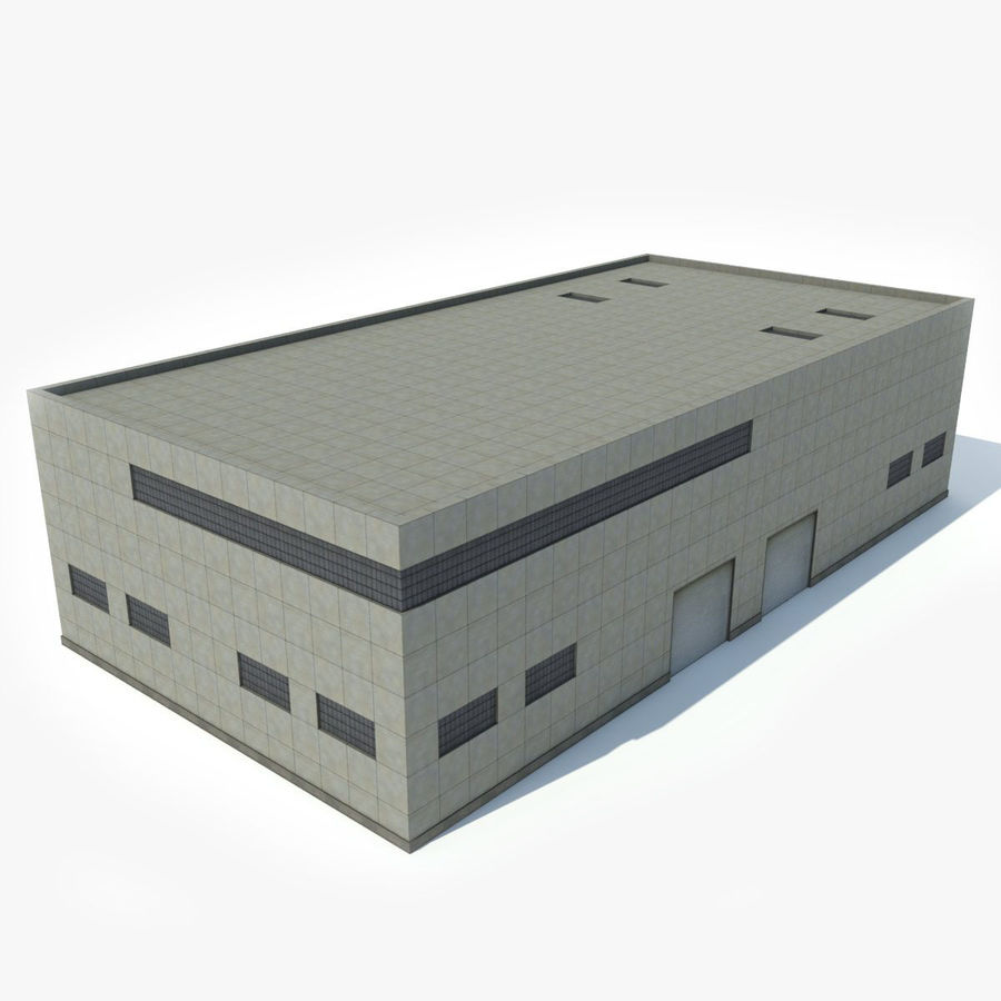 Warehouse Building royalty-free 3d model - Preview no. 1