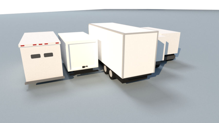 Collection Vehicle Modern Pack [71] (LOW POLY) royalty-free 3d model - Preview no. 27