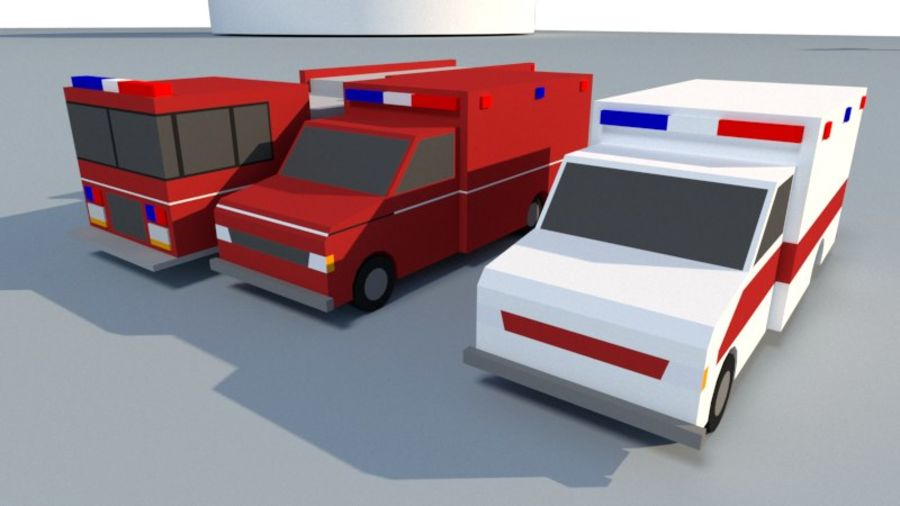 Collection Vehicle Modern Pack [71] (LOW POLY) royalty-free 3d model - Preview no. 38