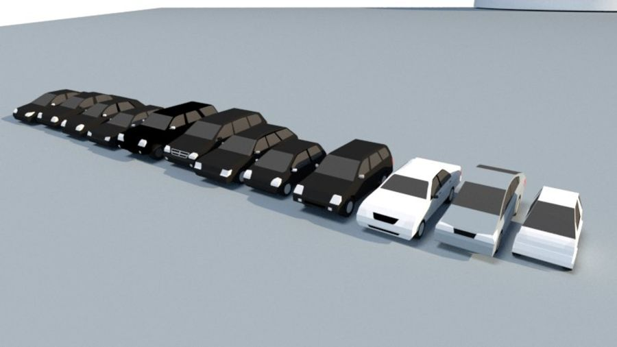 Collection Vehicle Modern Pack [71] (LOW POLY) royalty-free 3d model - Preview no. 5