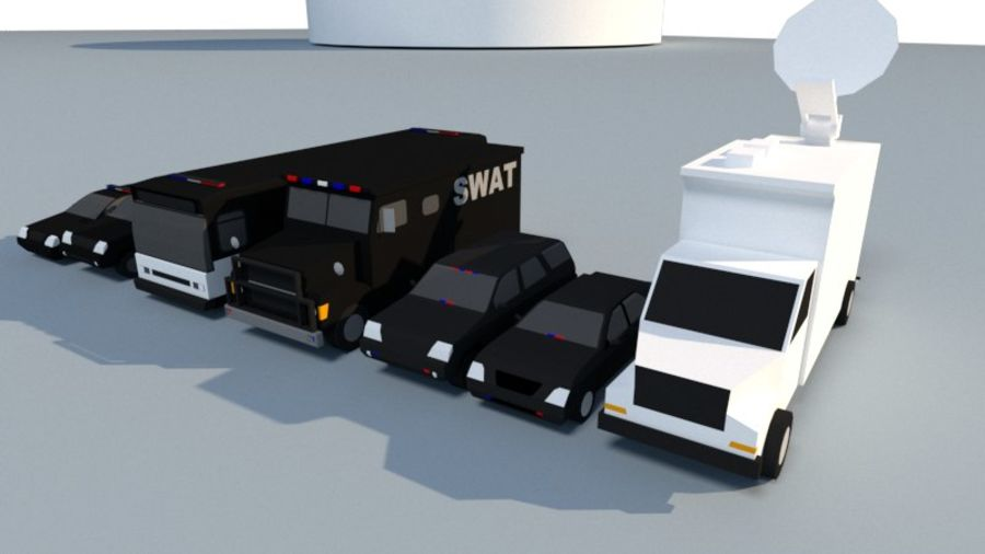 Collection Vehicle Modern Pack [71] (LOW POLY) royalty-free 3d model - Preview no. 32