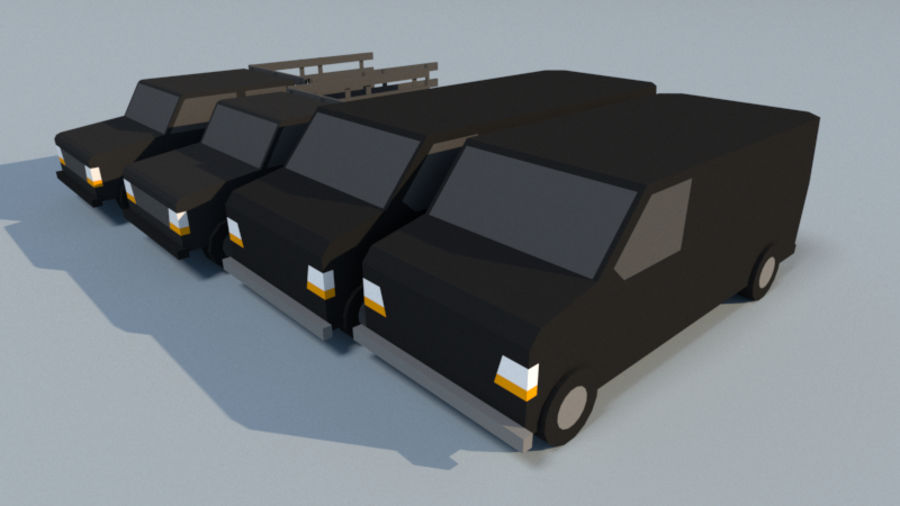 Collection Vehicle Modern Pack [71] (LOW POLY) royalty-free 3d model - Preview no. 11