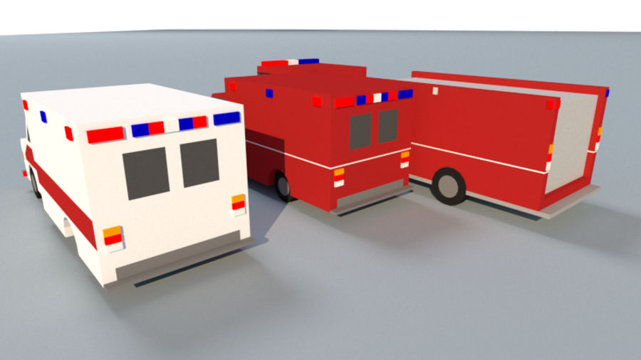 Collection Vehicle Modern Pack [71] (LOW POLY) royalty-free 3d model - Preview no. 39