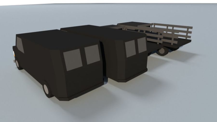 Collection Vehicle Modern Pack [71] (LOW POLY) royalty-free 3d model - Preview no. 12
