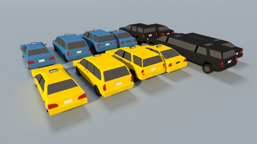 Collection Vehicle Modern Pack [71] (LOW POLY) royalty-free 3d model - Preview no. 21