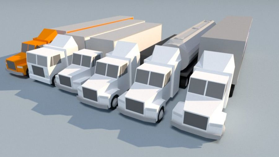 Collection Vehicle Modern Pack [71] (LOW POLY) royalty-free 3d model - Preview no. 14