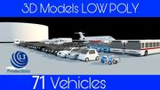 Collection Vehicle Modern Pack [71] (LOW POLY) 3d model