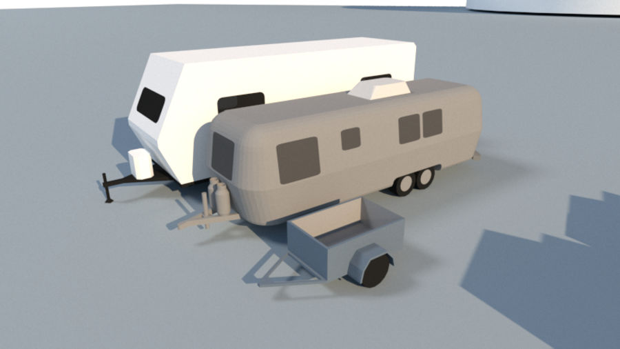 Collection Vehicle Modern Pack [71] (LOW POLY) royalty-free 3d model - Preview no. 23