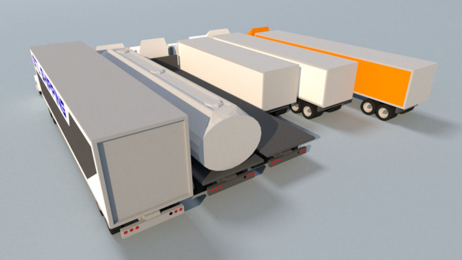 Collection Vehicle Modern Pack [71] (LOW POLY) royalty-free 3d model - Preview no. 15