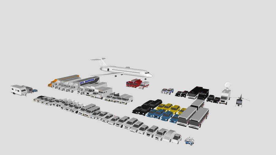 Collection Vehicle Modern Pack [71] (LOW POLY) royalty-free 3d model - Preview no. 47