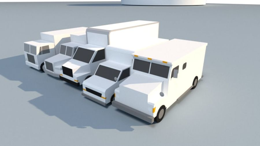 Collection Vehicle Modern Pack [71] (LOW POLY) royalty-free 3d model - Preview no. 26