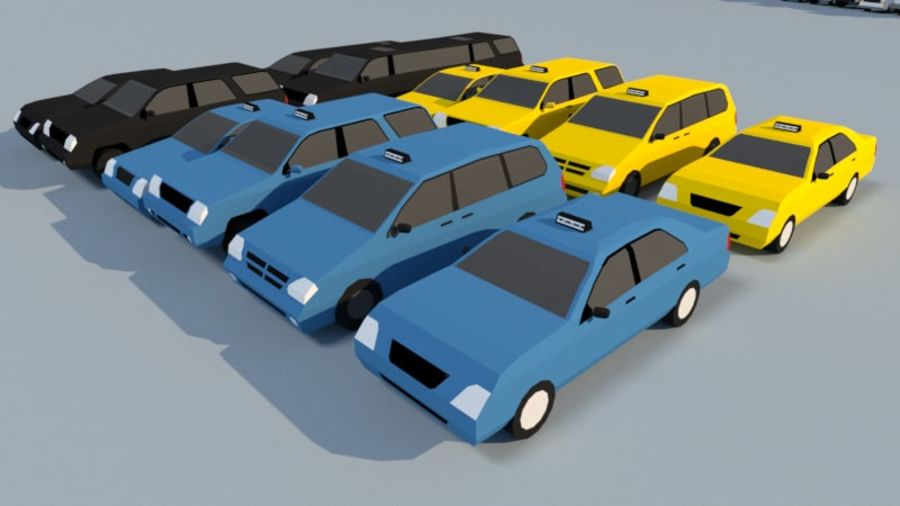 Collection Vehicle Modern Pack [71] (LOW POLY) royalty-free 3d model - Preview no. 20