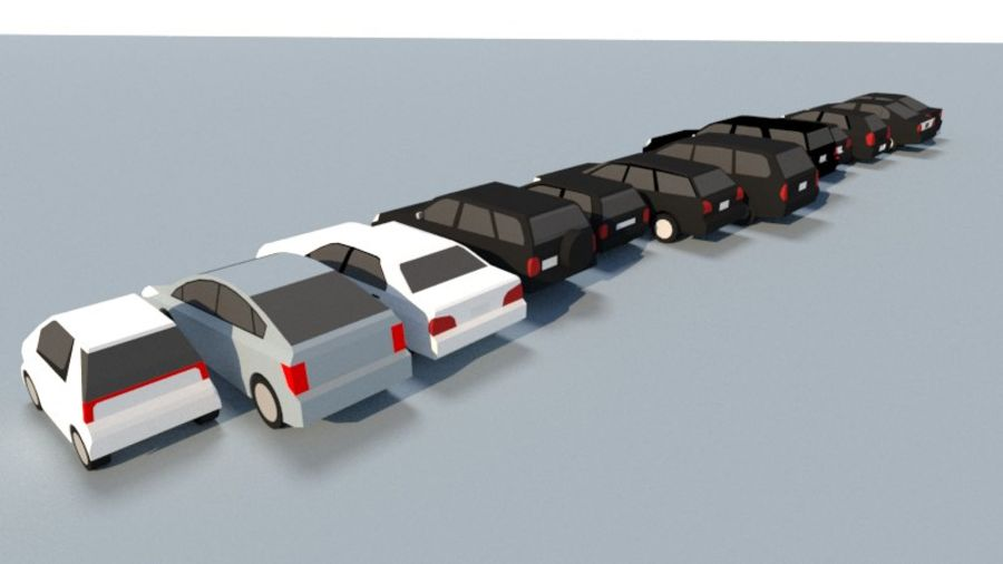 Collection Vehicle Modern Pack [71] (LOW POLY) royalty-free 3d model - Preview no. 6
