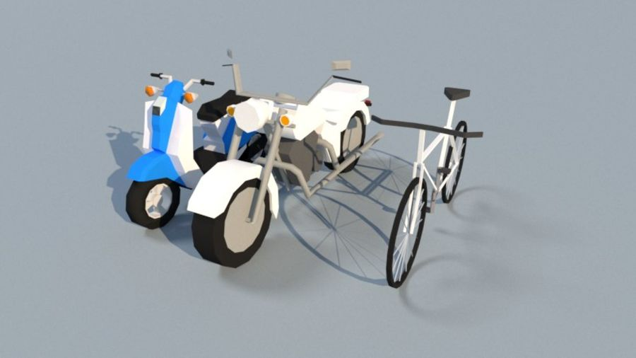 Collection Vehicle Modern Pack [71] (LOW POLY) royalty-free 3d model - Preview no. 3