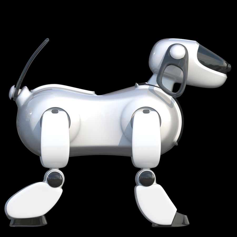 Robot Dog royalty-free 3d model - Preview no. 9
