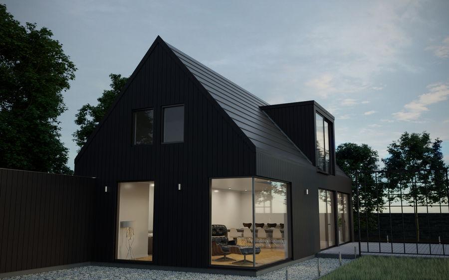 Corona Night and Day Modern House escena modelo 3D royalty-free modelo 3d - Preview no. 4