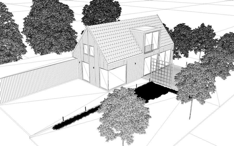 Corona Night and Day Modern House escena modelo 3D royalty-free modelo 3d - Preview no. 13
