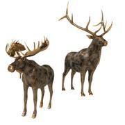 鹿とヘラジカ 3d model
