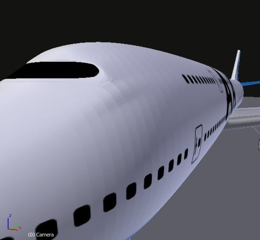 AirCraft High Poly royalty-free 3d model - Preview no. 3