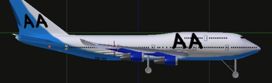 AirCraft High Poly royalty-free 3d model - Preview no. 1