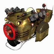Стимпанк Hover Bike (Майя Rigged) 3d model