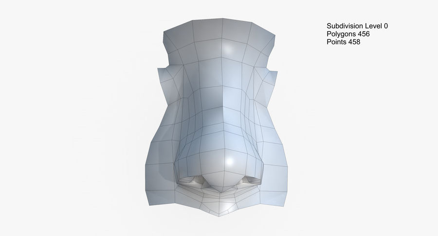 Nose royalty-free 3d model - Preview no. 21