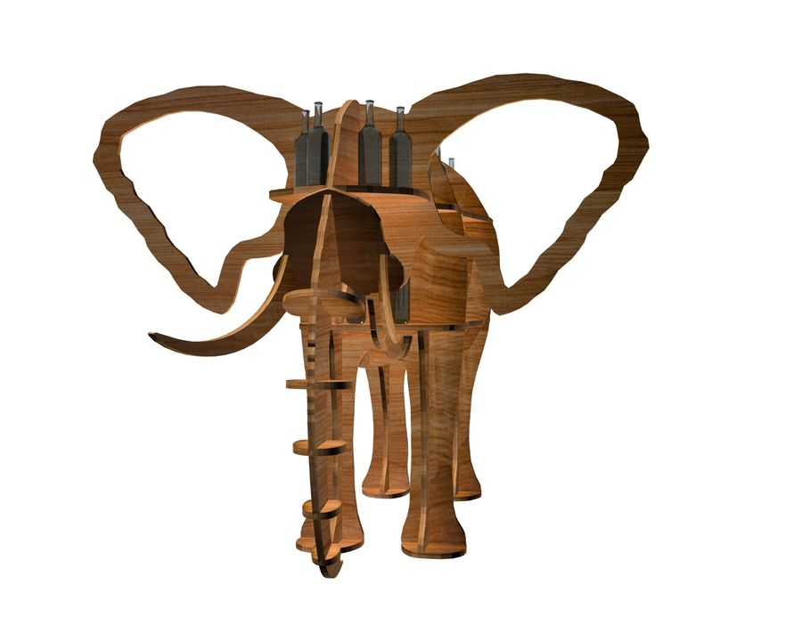 Shelf animal elephant royalty-free 3d model - Preview no. 2