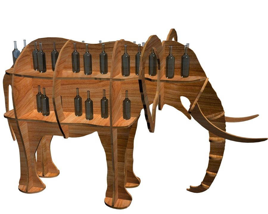 Shelf animal elephant royalty-free 3d model - Preview no. 1