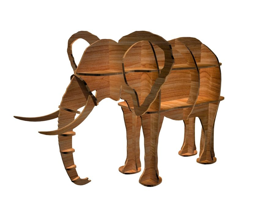 Shelf animal elephant royalty-free 3d model - Preview no. 5
